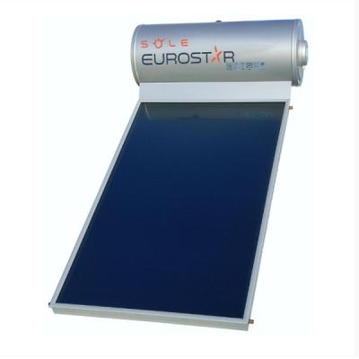 Sole Eurostar 120-1T-200 Inox 120lt/2m² Glass Διπλής Ενέργειας
