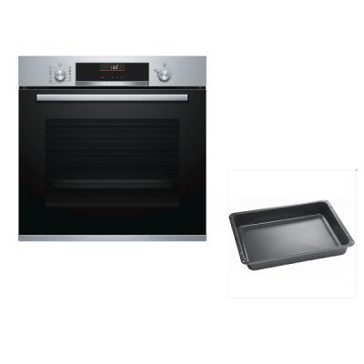 Bosch Plus Εντοιχιζόμενος φούρνος HBA5560S0 & Δώρο βαθύ ταψί HEZ333073