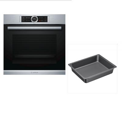 Bosch Plus Εντοιχιζόμενος φούρνος HBG634BS1 & Δώρο βαθύ ταψί HEZ633073