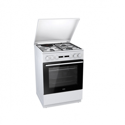 Korting Ελεύθερη κουζίνα Λευκή Γκαζιού KK 64 W