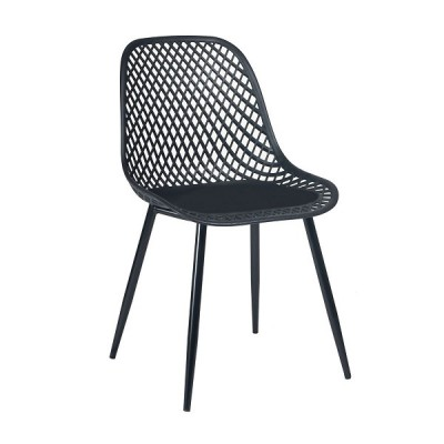 VRS Καρέκλα Lida Μαύρο 900-229
