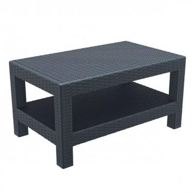 ZGR 53.0153 Τραπέζι Monaco Dark Grey 92X57X45
