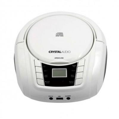 Crystal Audio BMBU2W Φορητό Ραδιο-CD/MP3/FM/USB 381251