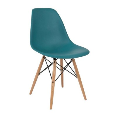 VRS Καρέκλα Anita-Wood Πετρόλ 300-131