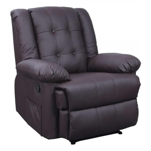 ZGR Πολυθρόνα Massage Scarlet Καφέ 15.0002