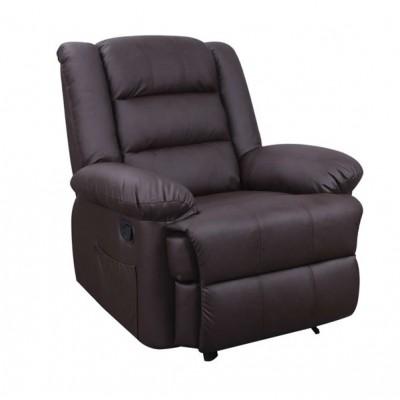 ZGR Πολυθρόνα Massage Βίβιαν Καφέ 15.0014