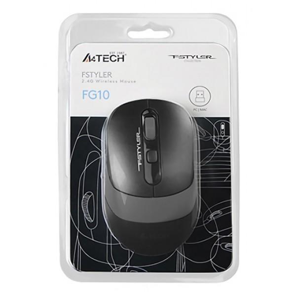 A4TECH ασύρματο ποντίκι FG10 Fstyler series, 2000DPI, 4 πλήκτρα, μαύρο Ποντίκια