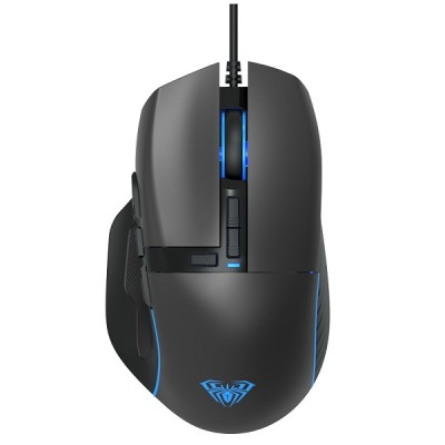AULA ενσύρματο gaming ποντίκι Wind F808, 4200DPI, 10 πλήκτρα, RGB, μαύρο