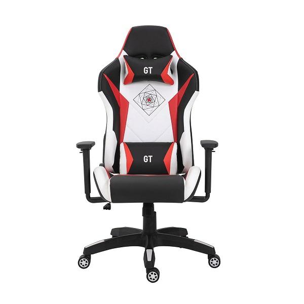 VRS 500-052 Πολυθρόνα Γραφείου GT Μαύρο-Λευκό-Κόκκινο